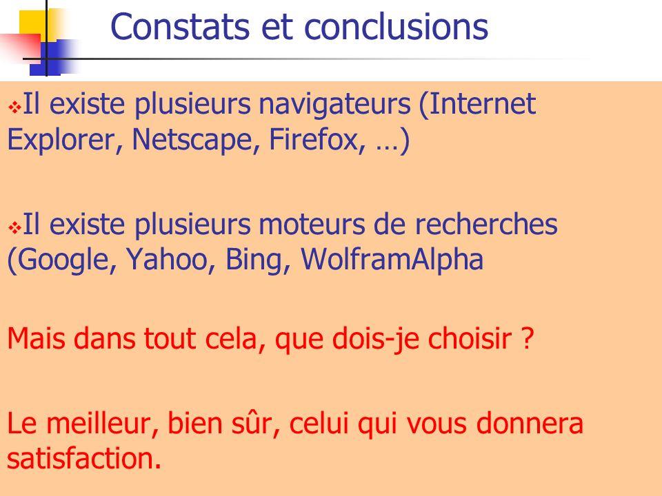 Constats et conclusions