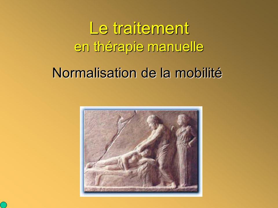 Le traitement en thérapie manuelle