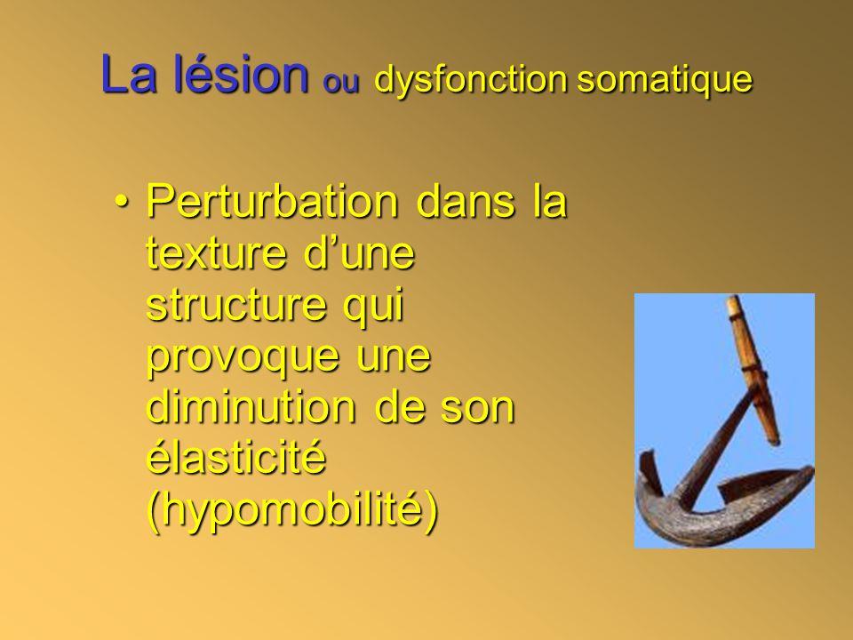 La lésion ou dysfonction somatique