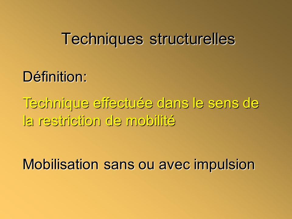 Techniques structurelles