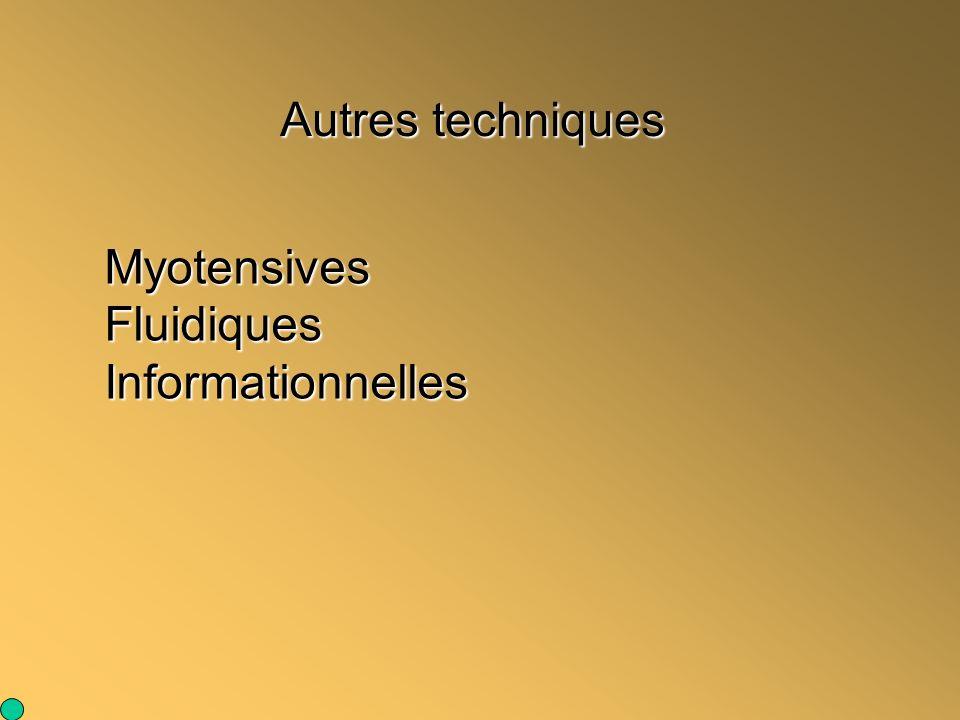 Autres techniques Myotensives Fluidiques Informationnelles