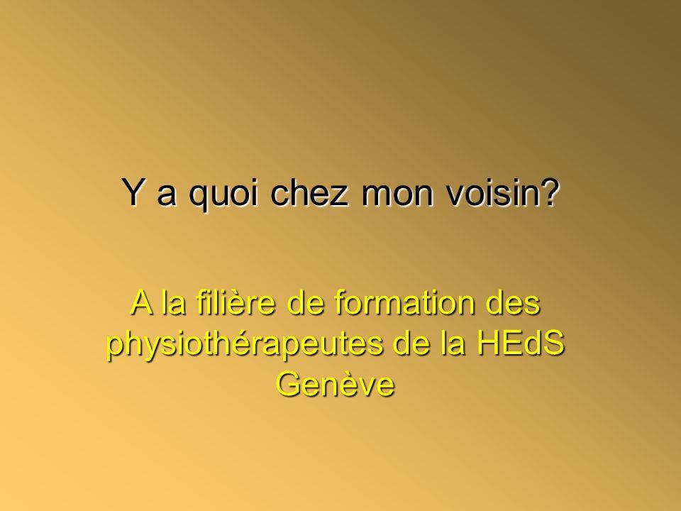 A la filière de formation des physiothérapeutes de la HEdS Genève