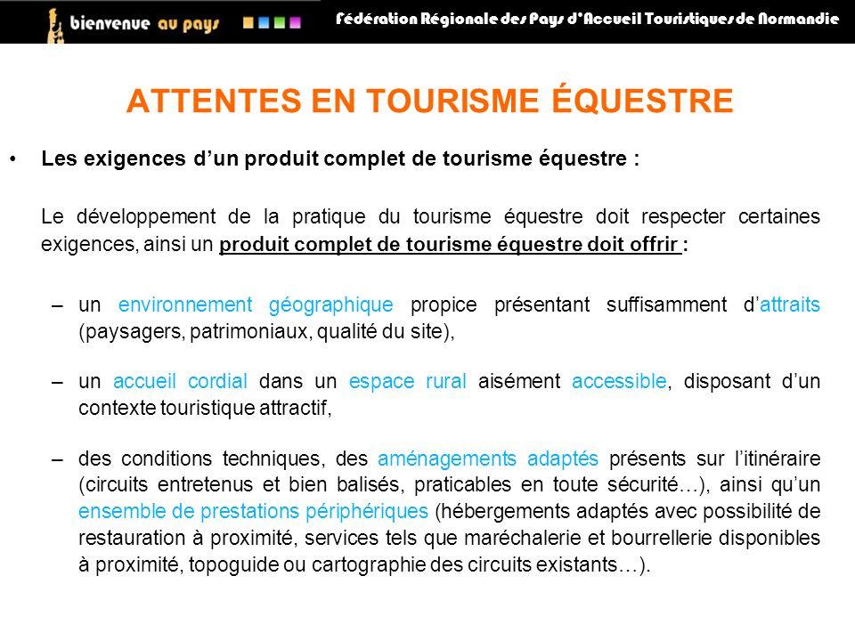 ATTENTES EN TOURISME ÉQUESTRE