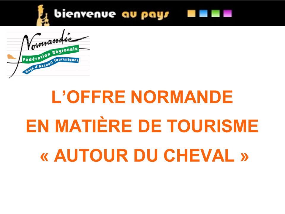 L'OFFRE NORMANDE EN MATIÈRE DE TOURISME « AUTOUR DU CHEVAL »