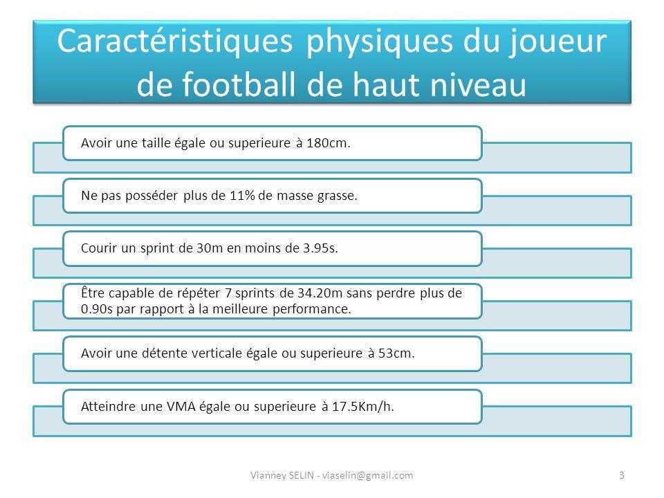 Caractéristiques physiques du joueur de football de haut niveau