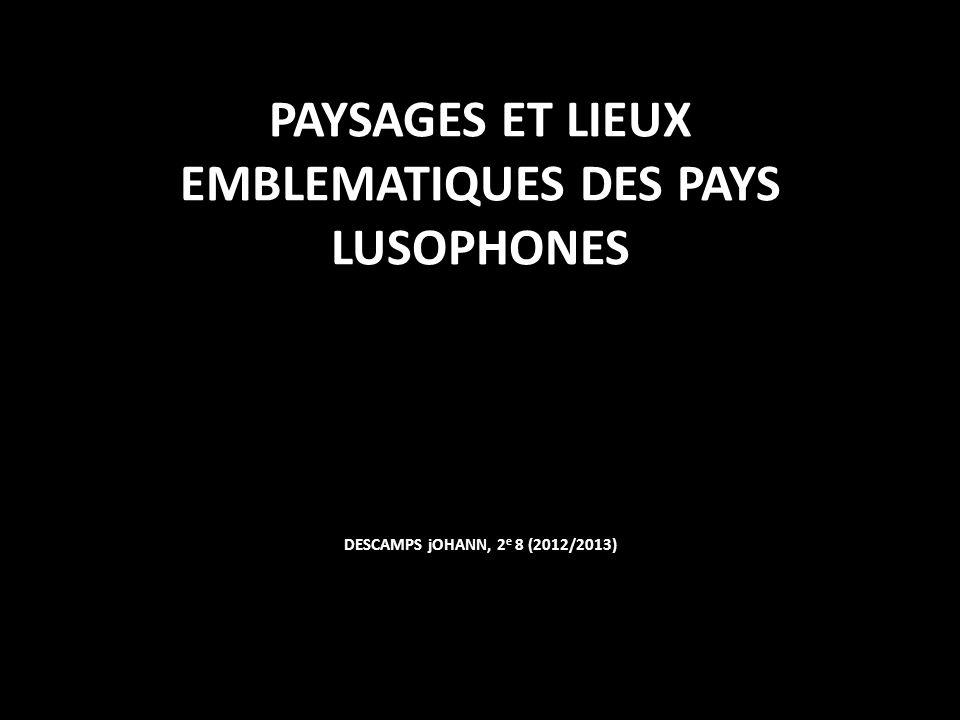 PAYSAGES ET LIEUX EMBLEMATIQUES DES PAYS LUSOPHONES DESCAMPS jOHANN, 2e 8 (2012/2013)