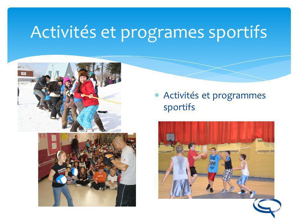 Activités et programes sportifs
