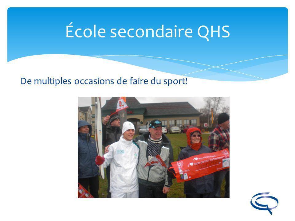 École secondaire QHS De multiples occasions de faire du sport!