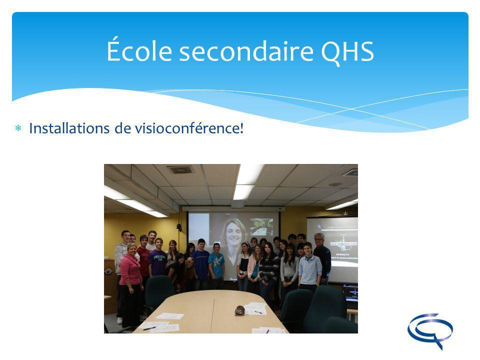 École secondaire QHS Installations de visioconférence!