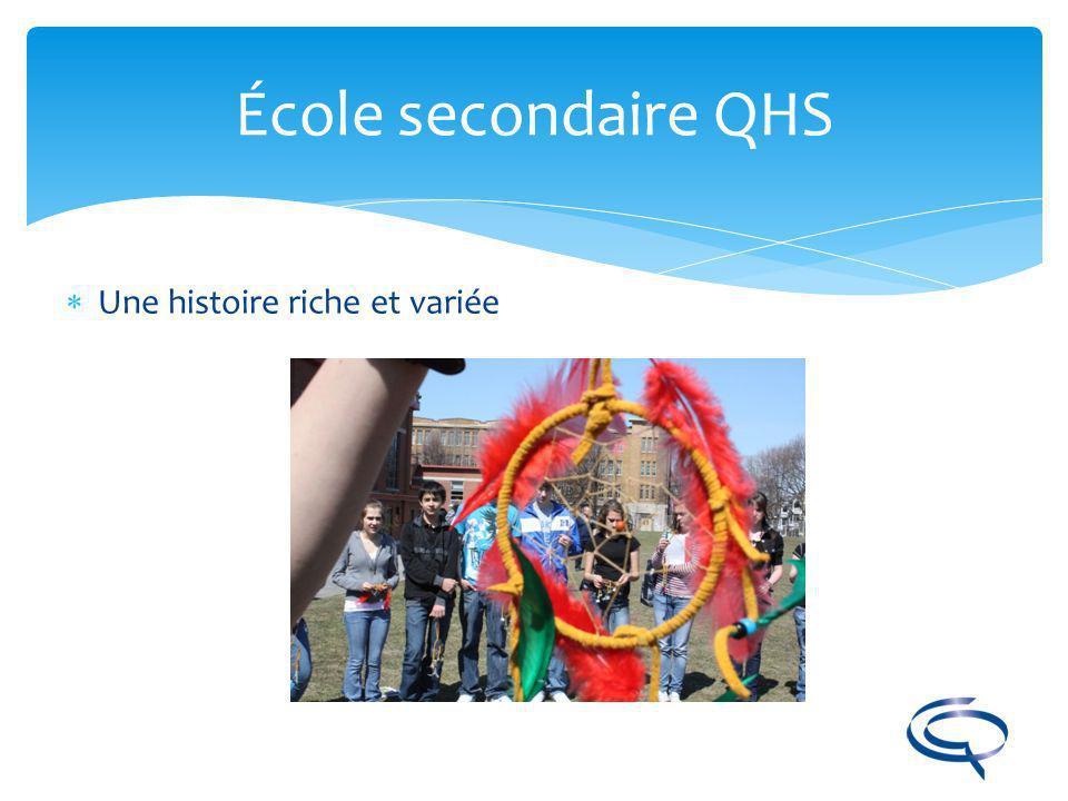 École secondaire QHS Une histoire riche et variée