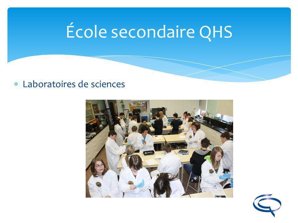École secondaire QHS Laboratoires de sciences