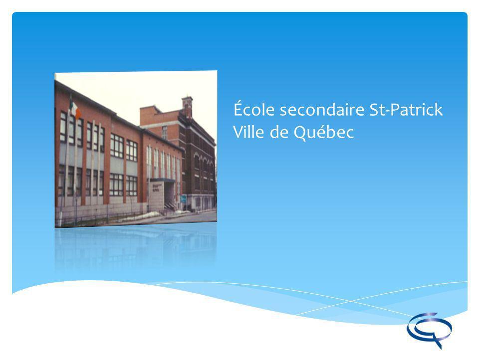 École secondaire St-Patrick Ville de Québec