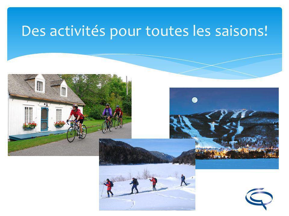 Des activités pour toutes les saisons!