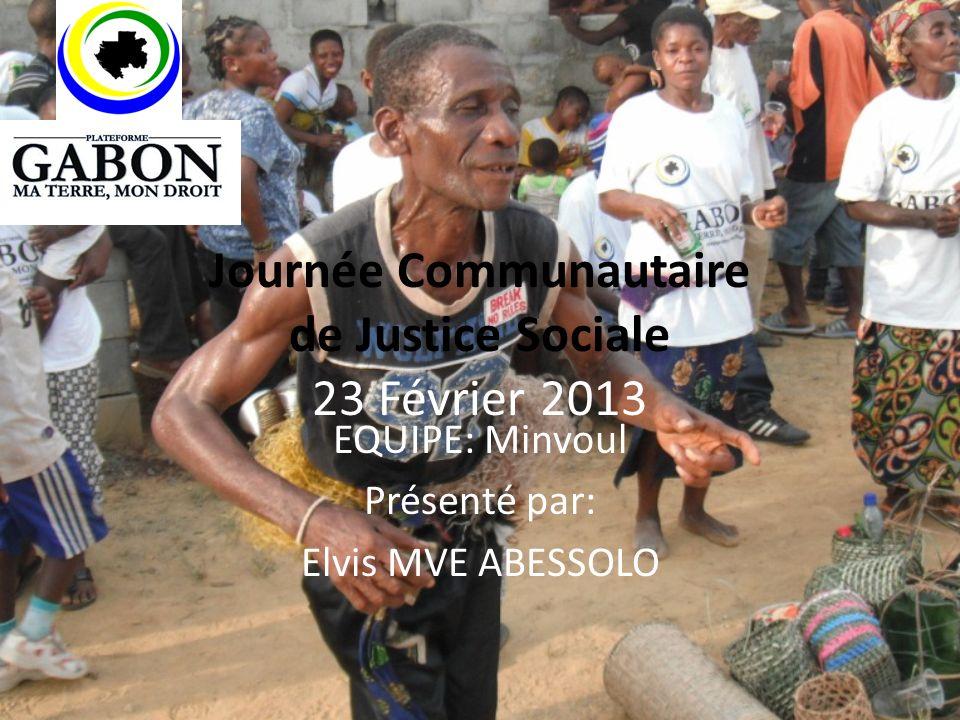 Journée Communautaire de Justice Sociale 23 Février 2013