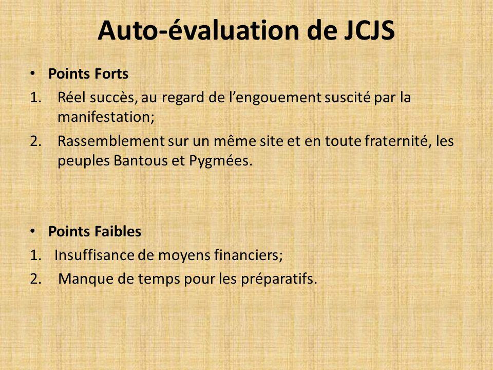 Auto-évaluation de JCJS