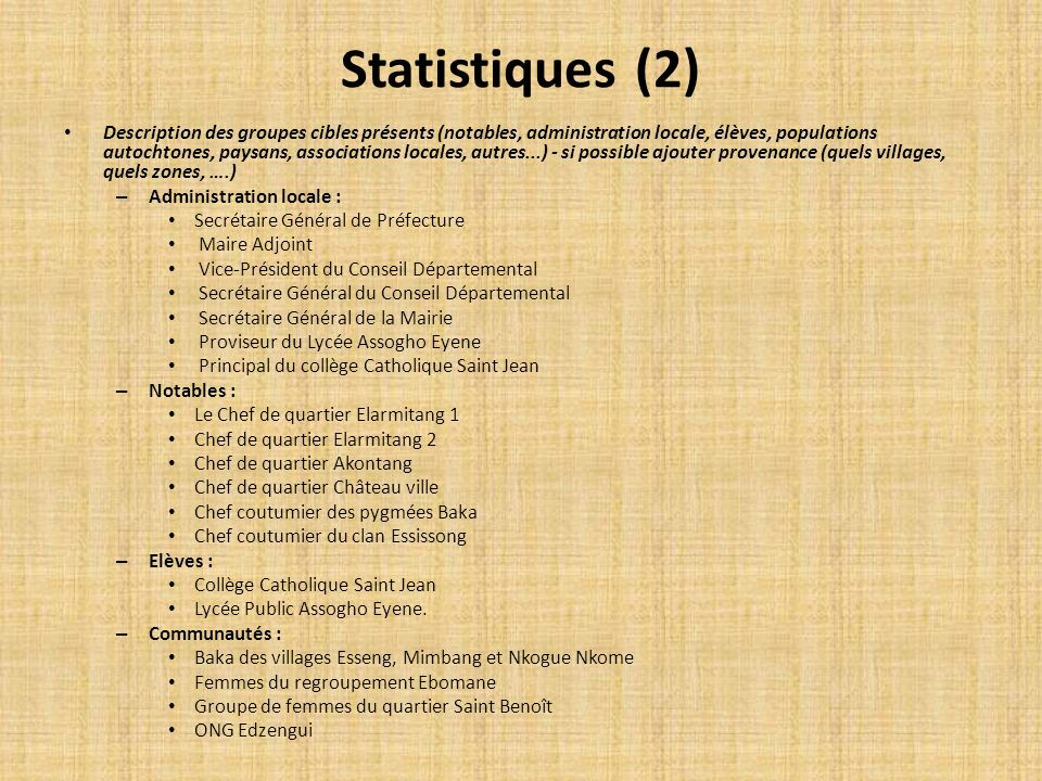 Statistiques (2)