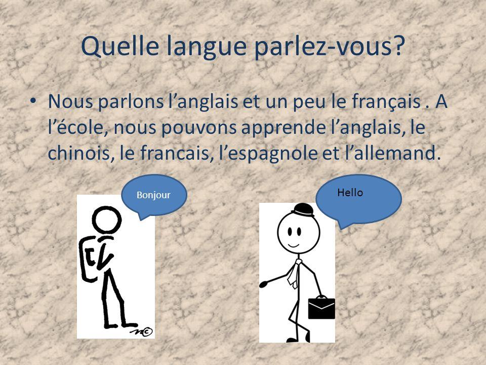 Quelle langue parlez-vous