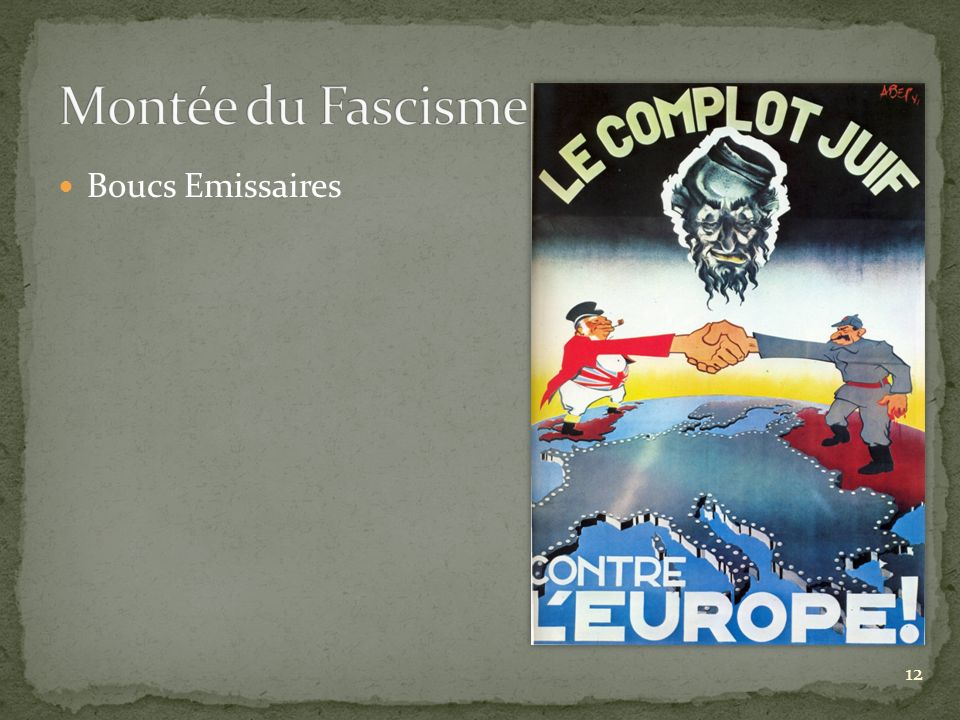 Montée du Fascisme Boucs Emissaires