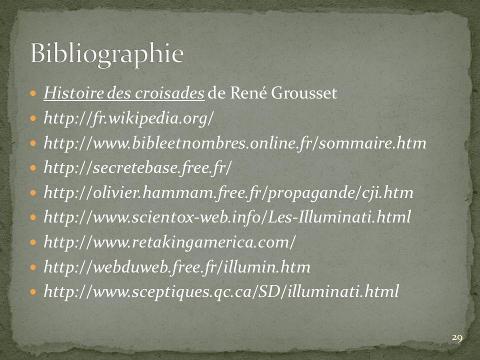 Bibliographie Histoire des croisades de René Grousset