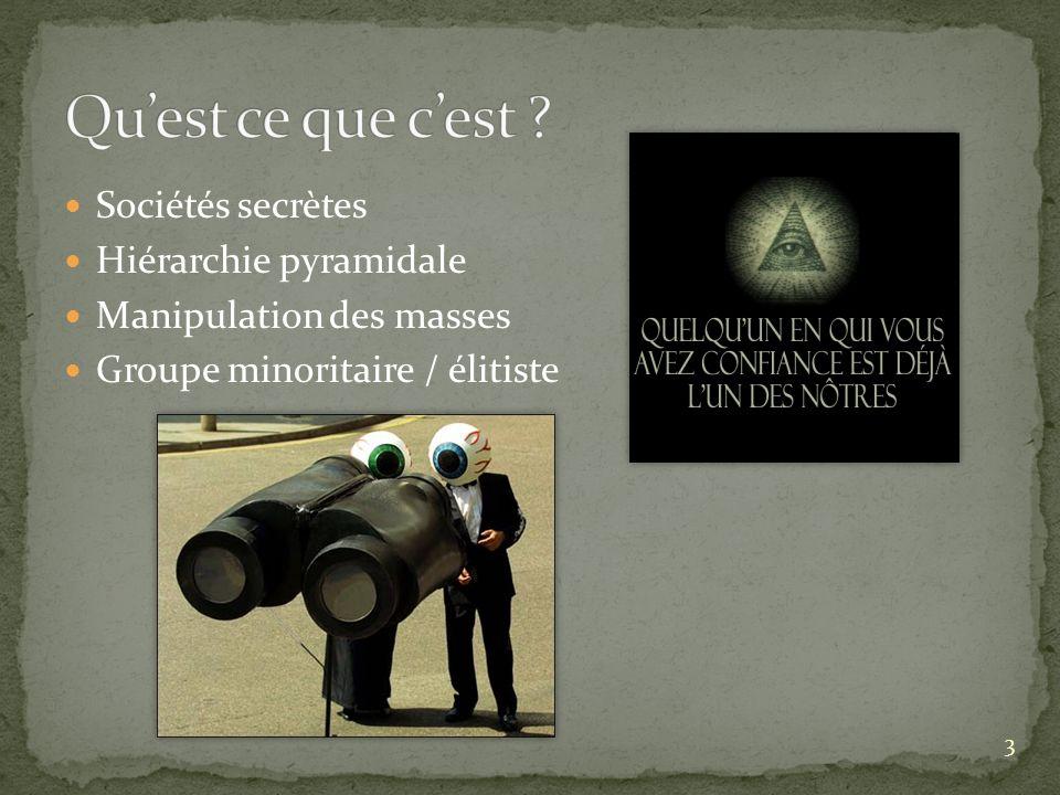 Qu'est ce que c'est Sociétés secrètes Hiérarchie pyramidale