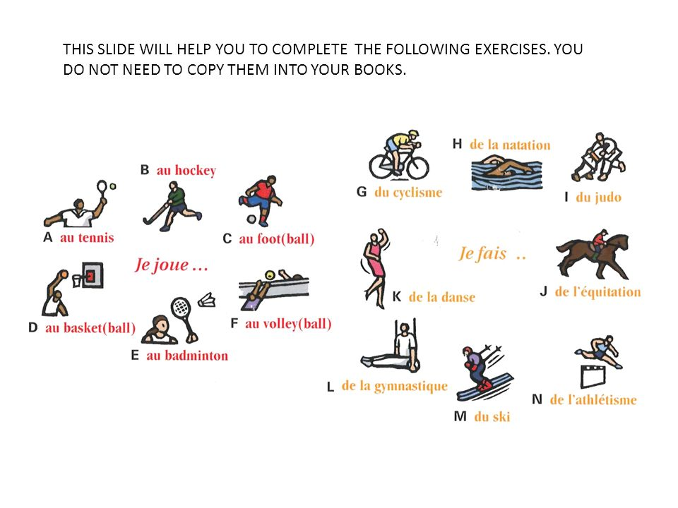 THIS SLIDE WILL HELP YOU TO COMPLETE THE FOLLOWING EXERCISES