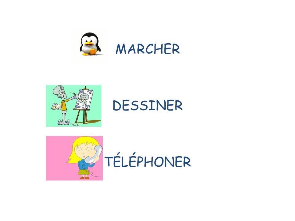MARCHER DESSINER TÉLÉPHONER