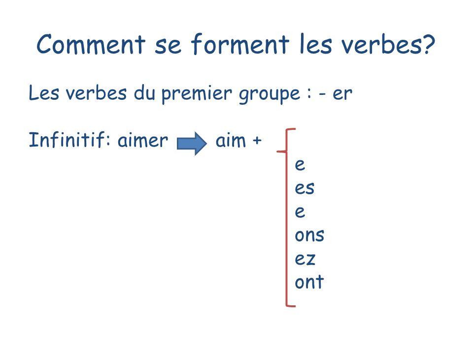 Comment se forment les verbes