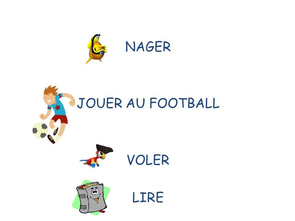 NAGER JOUER AU FOOTBALL VOLER LIRE