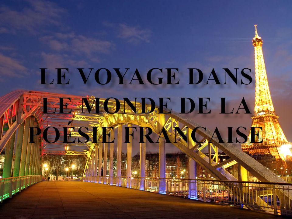 Le voyage dans le monde de la poésie française