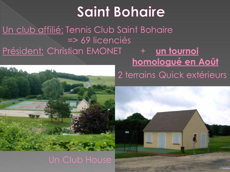 Saint Bohaire Un club affilié: Tennis Club Saint Bohaire