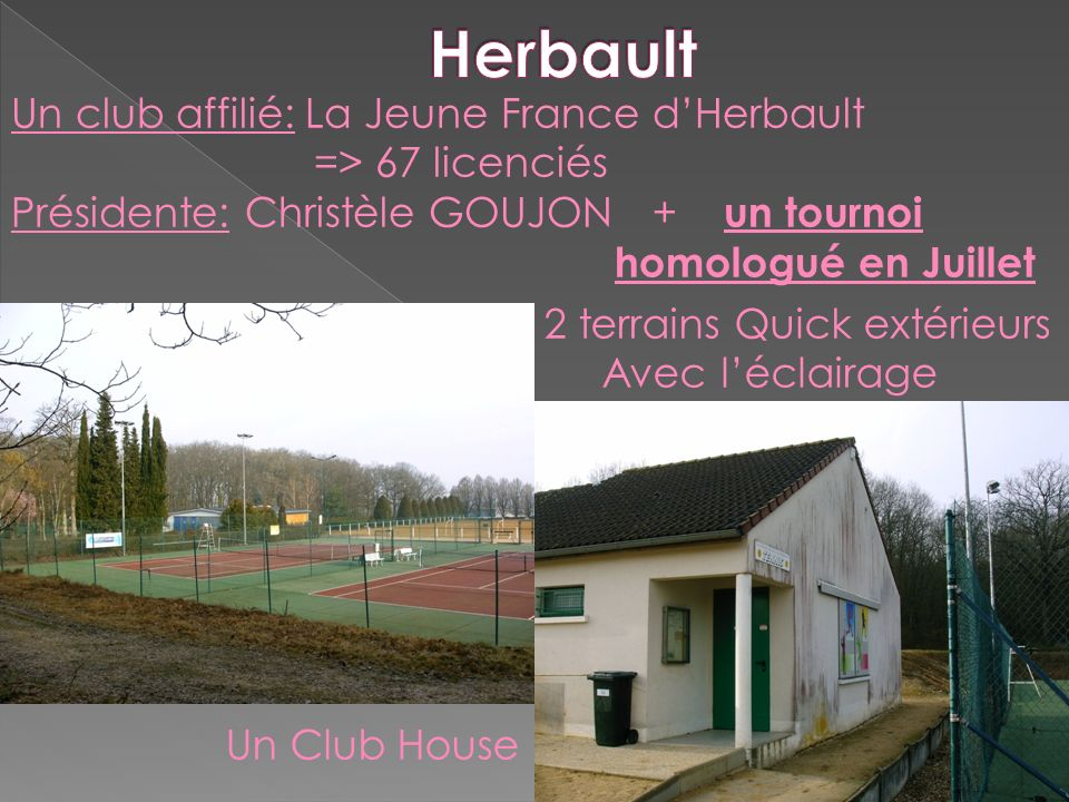 Herbault Un club affilié: La Jeune France d'Herbault