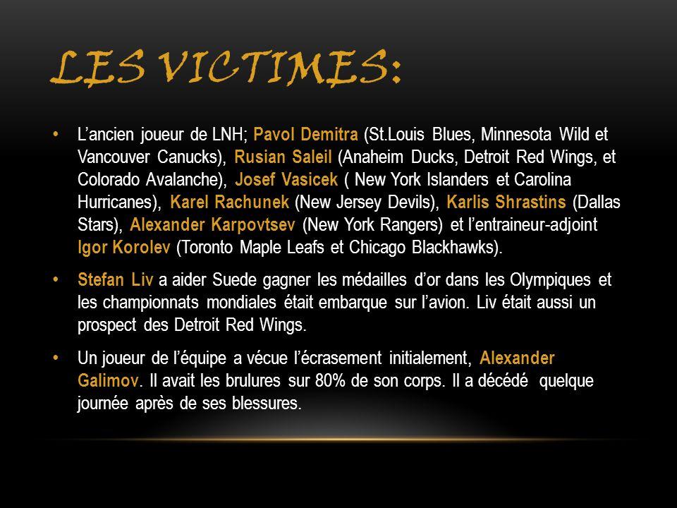 Les victimes: