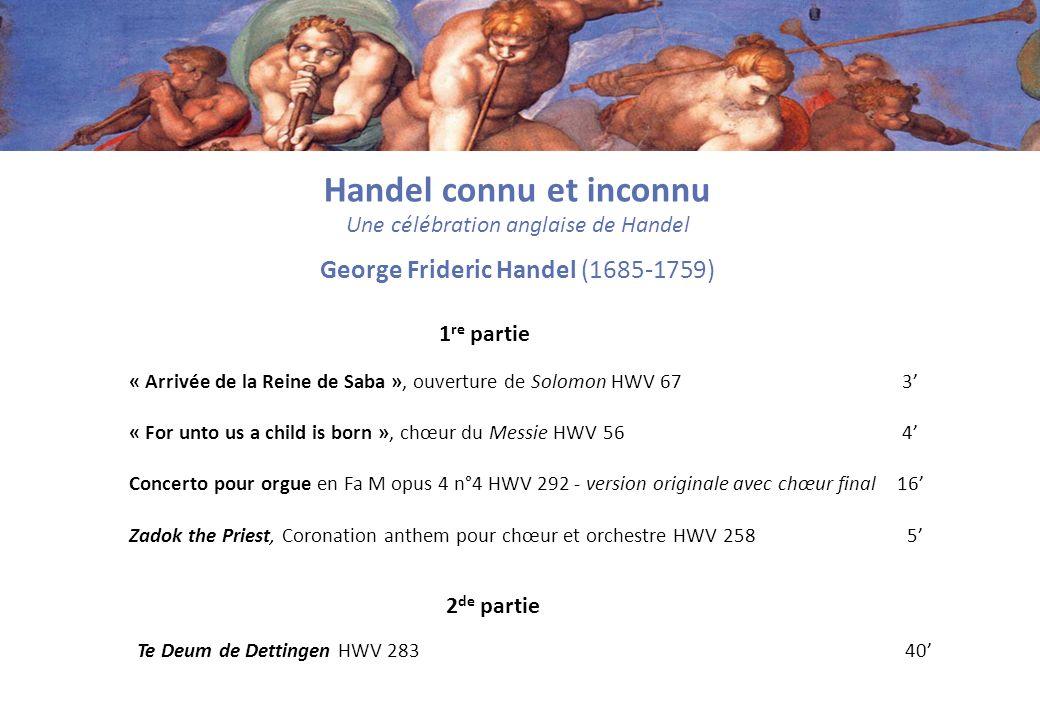 Handel connu et inconnu
