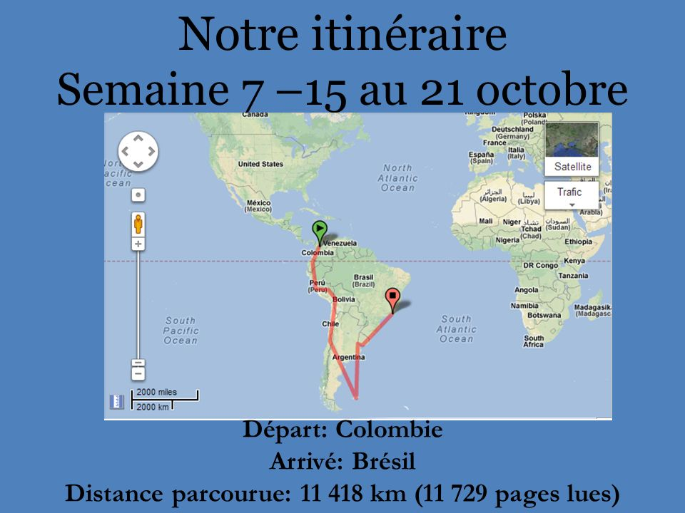 Distance parcourue: 11 418 km (11 729 pages lues)
