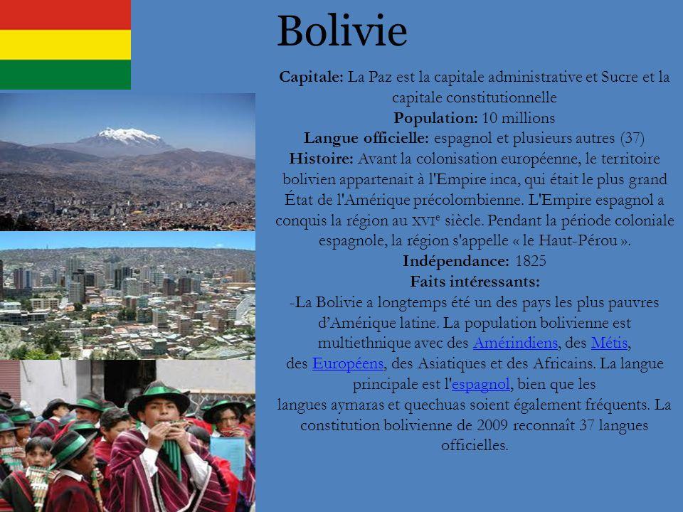 Langue officielle: espagnol et plusieurs autres (37)