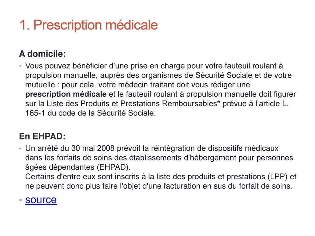 Edouard faure ergoth rapeute 24 septembre ppt video online - Lit medicalise prise en charge securite sociale ...