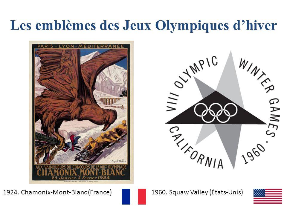 Les emblèmes des Jeux Olympiques d'hiver