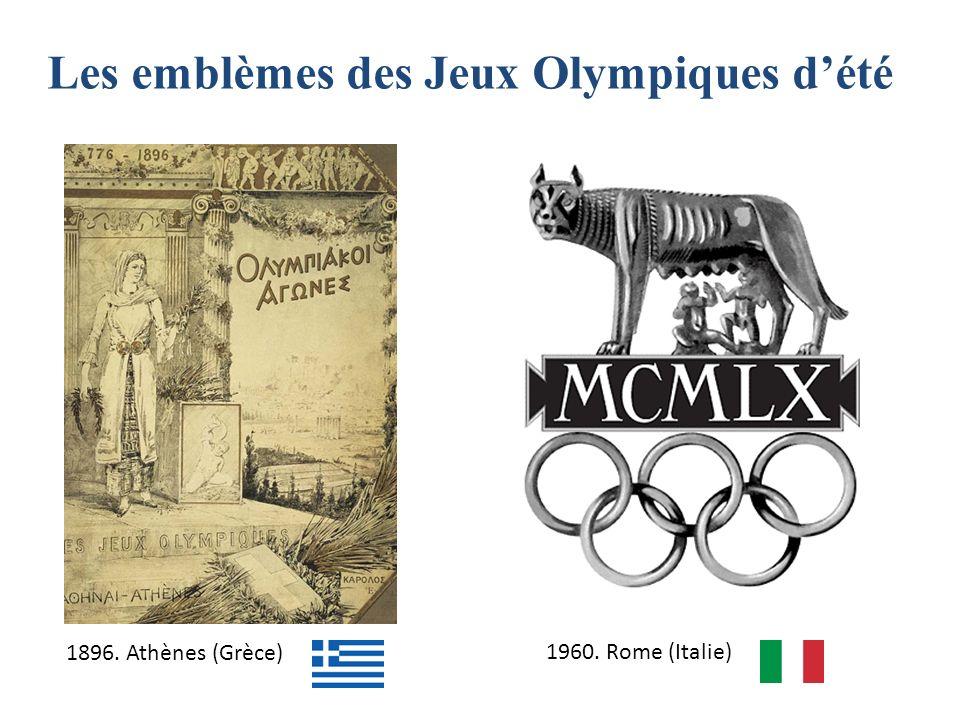 Les emblèmes des Jeux Olympiques d'été