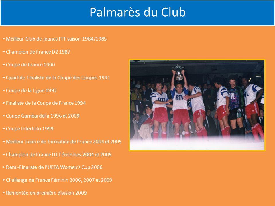 Palmarès du Club Meilleur Club de jeunes FFF saison 1984/1985