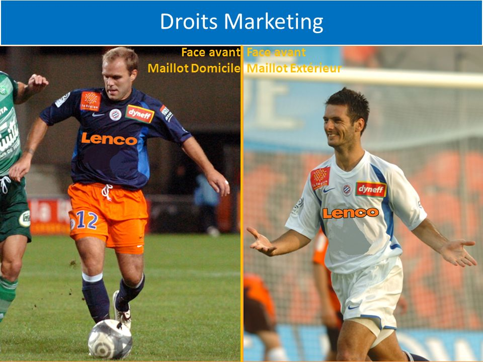 Droits Marketing Face avant Maillot Domicile Face avant