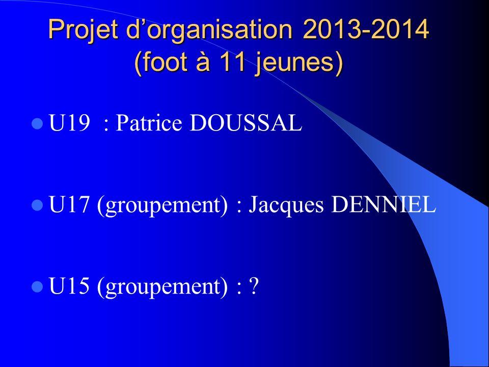 Projet d'organisation 2013-2014 (foot à 11 jeunes)