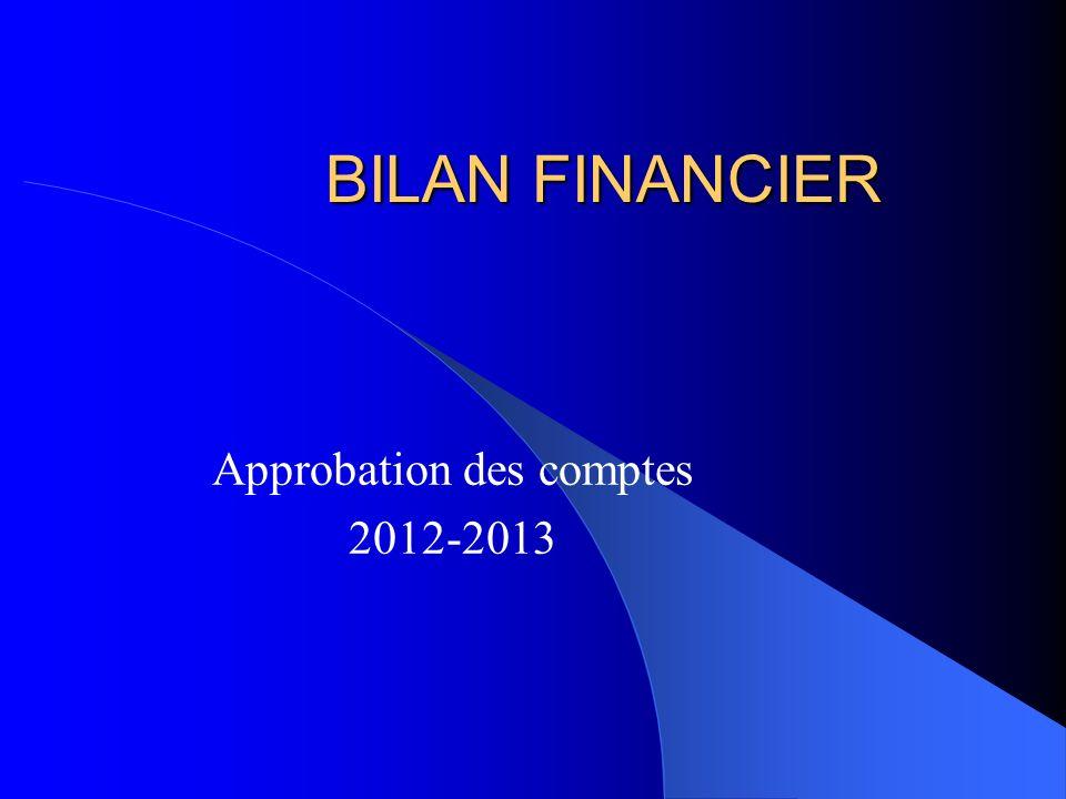 Approbation des comptes 2012-2013