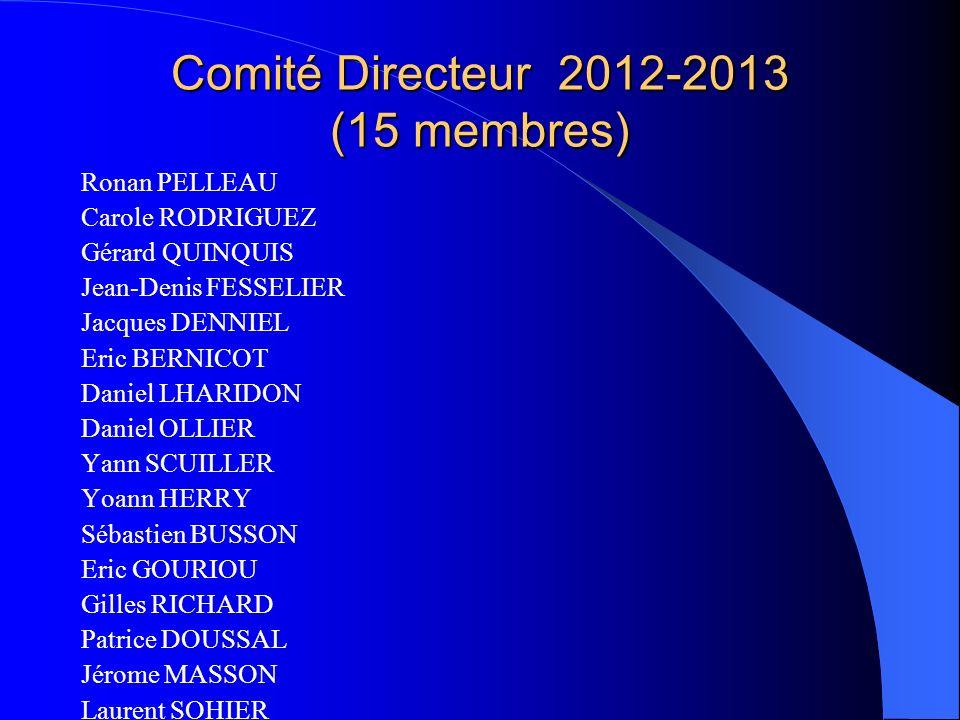Comité Directeur 2012-2013 (15 membres)