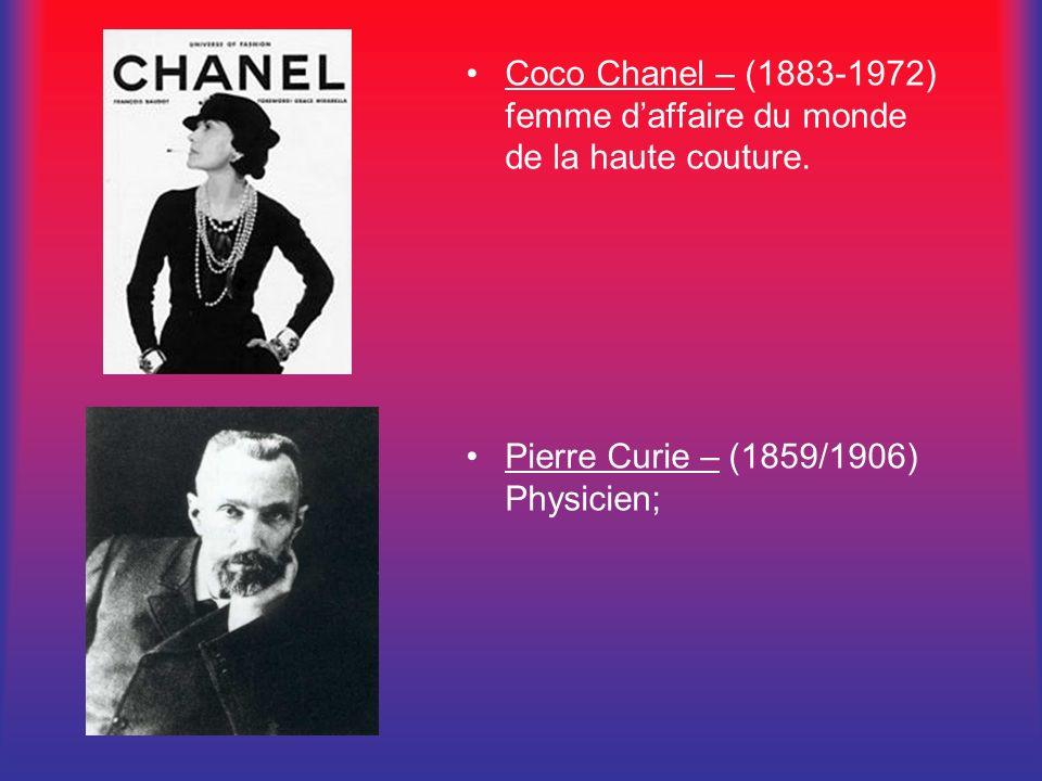 Coco Chanel – (1883-1972) femme d'affaire du monde de la haute couture.