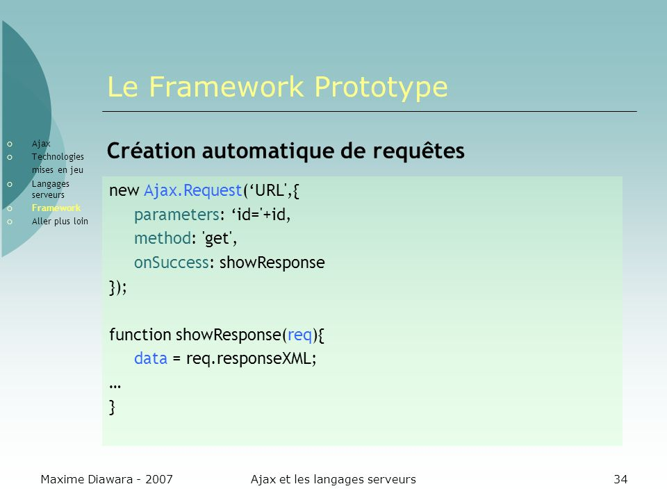 Le Framework Prototype