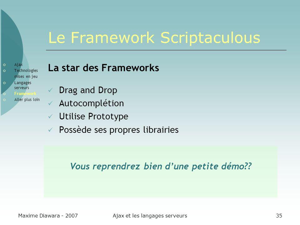 Le Framework Scriptaculous