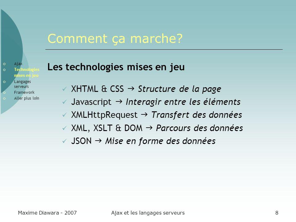 Ajax et les langages serveurs