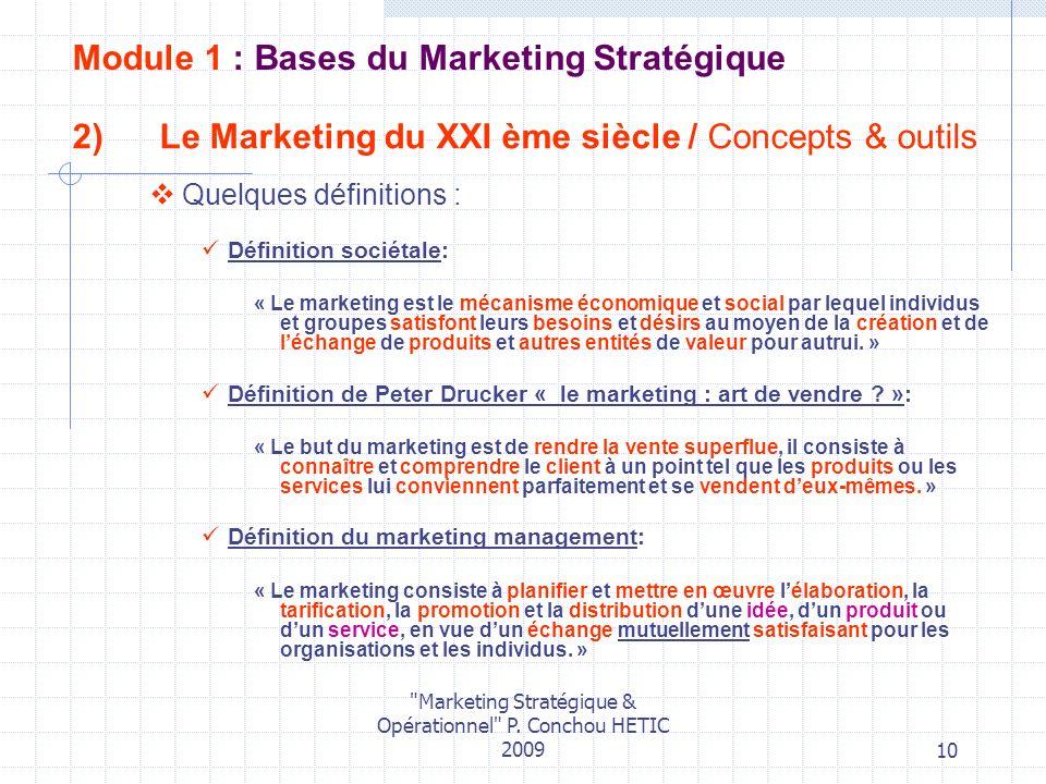 Le Marketing du XXI ème siècle / Concepts & outils