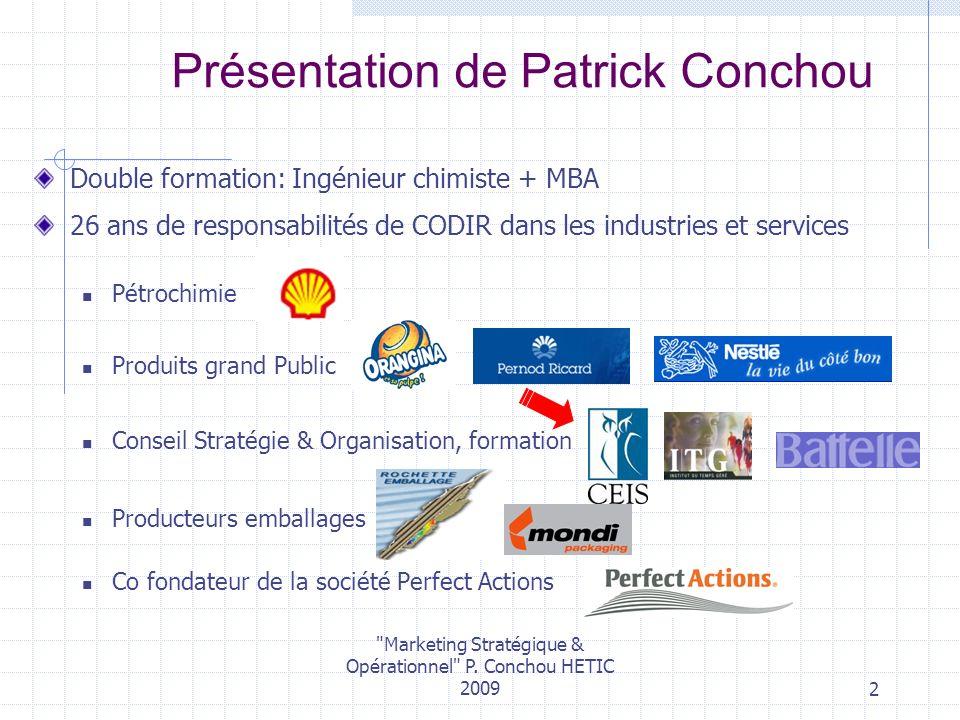 Présentation de Patrick Conchou