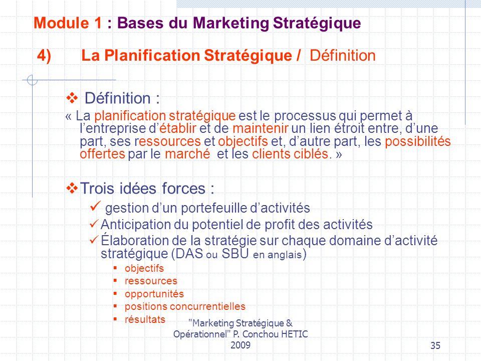 La Planification Stratégique / Définition